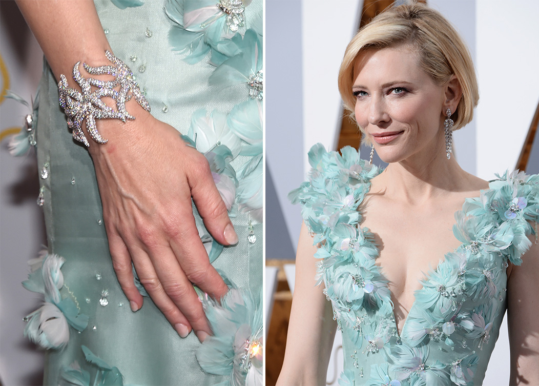 Cate Blanchett Armani Oscars Academy Awards 2016 Fashion Dress