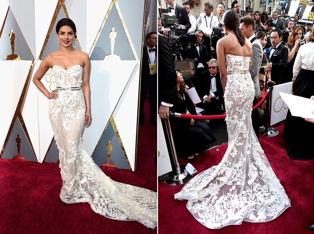 Priyanka Chopra Zuhair Murad Best Dressed Fashion Dress Oscars Academy Awards 2016